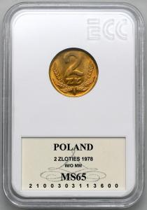 4673. 2 zł 1978 bz - GCN MS65
