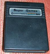 Oryginalny cartridge C64 Super Games Arcade -3 gry