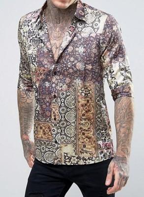 em7 koszula Rogues of London wzorzysta skinny S