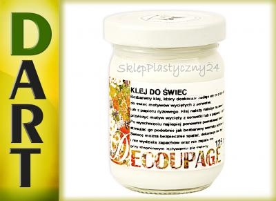 KLEJ DO ŚWIEC 125 ml do decoupage Renesans