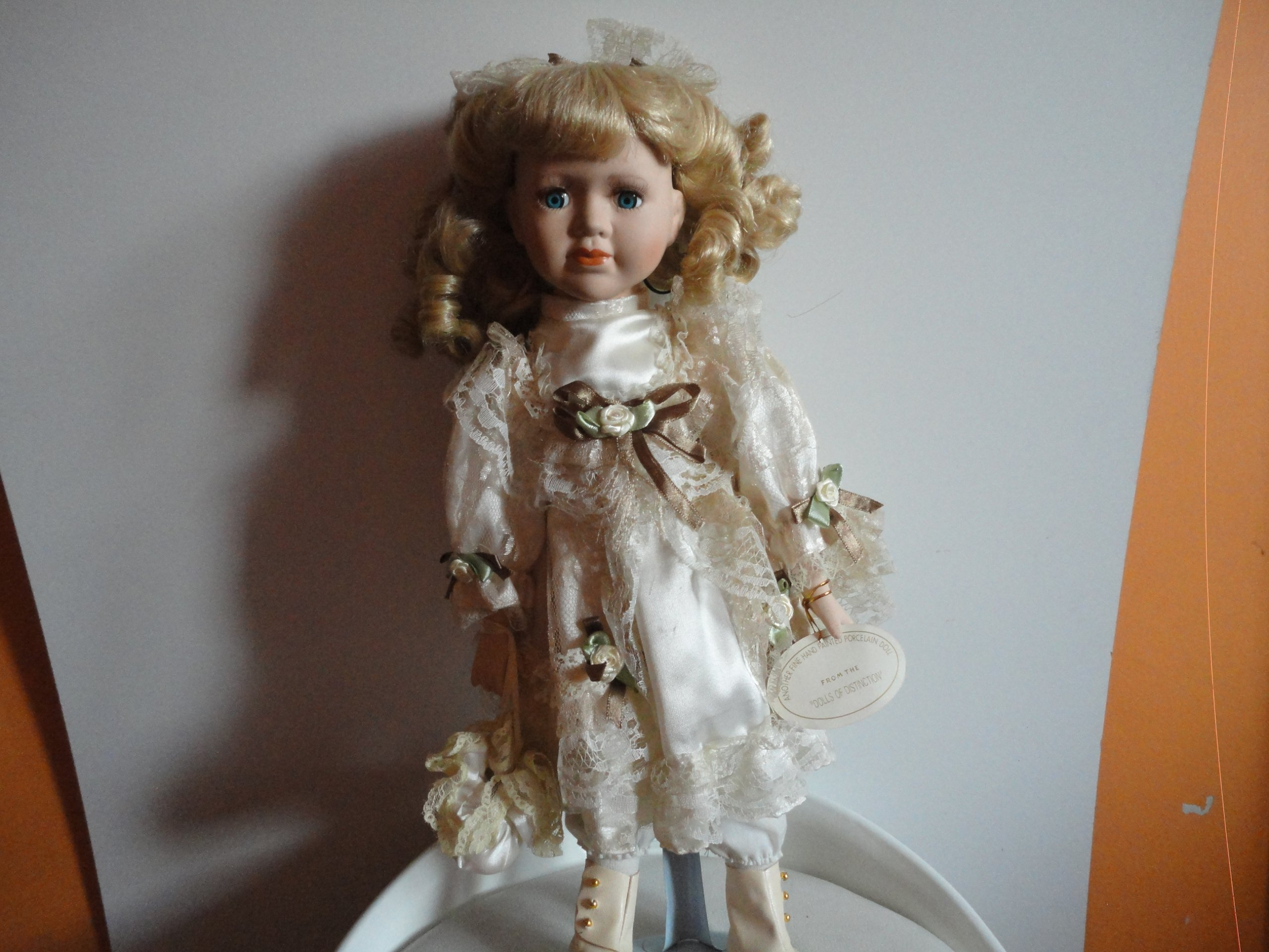Lalka Z Porcelany Cassie Wys 43cm 7031692610 Oficjalne Archiwum Allegro