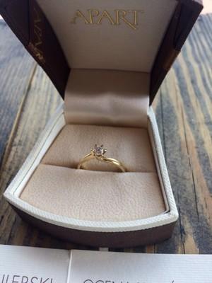 Pierścionek Zaręczynowy Apart Diament Si2 6921430077 Oficjalne