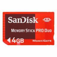 KARTA PAMIĘCI SANDISK MEMORY STICK PRO DUO 4 GB