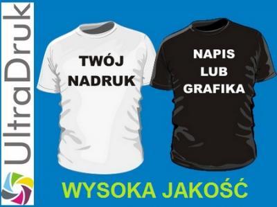 f3adefcfc koszulka Z WŁASNYM NADRUKIEM napisem T-SHIRT /S - 5566520054 ...