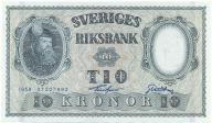 3954. Szwecja 10 kronor 1958 st.1-