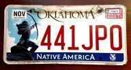 Oklahoma 2017 - tablica rejestracyjna USA