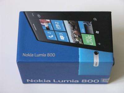Lumia 800 Cyan niebieska ORANGE nowa obudowa