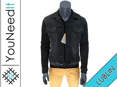 kurtka jeansowa wrangler czarna