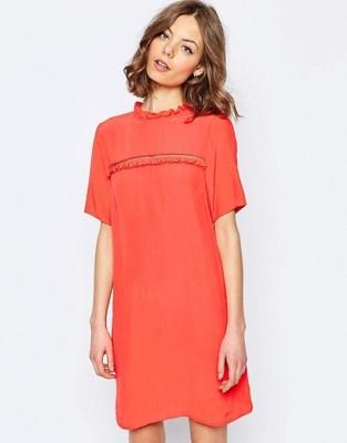 68c4124966 ASOS Koralowa sukienka z falbanką (46) - 6574992574 - oficjalne ...