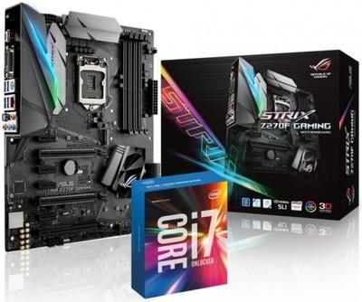 Intel i7 7700K Box + Płyta Asus Strix Z270F Gaming