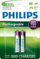 Philips akumulatorek HR03 1.2V 950mAh AAA 2 szt