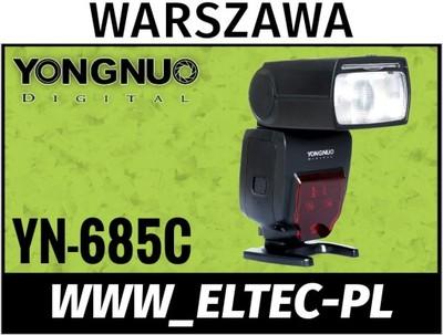 LAMPA YONGNUO YN-685 E-TTL/II LP60 CANON HSS WAWA