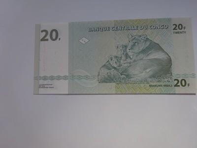 Kongo 20 francs 2003 r. UNC