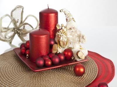 DEKORACJE świece na stół ozdoby świąteczne bombki