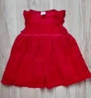 Sukienka dziewczęca 74 H&M ZARA koronka red