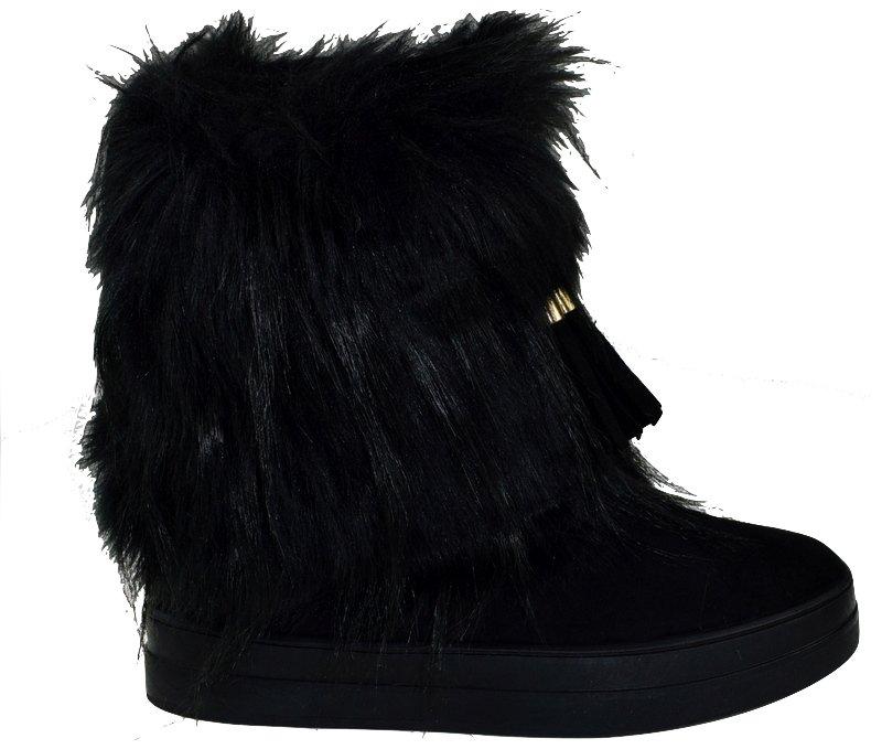 8b5aee7d1425f buty ZIMOWE styl EMU czarne Z FUTERKIEM damskie 36 - 7037999711 ...