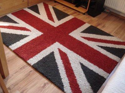 Belgijski Dywan Shaggy 140x200 Cm Flaga Brytyjska