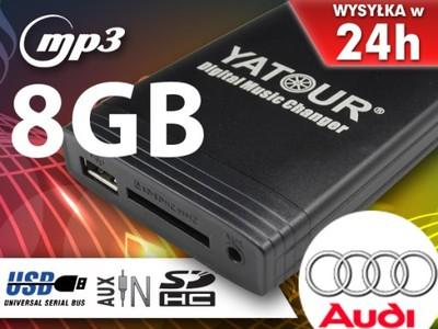 NEW ZMIENIARKA MP3 SD USB AUDI A3 A4 A6 A8 TT +8GB