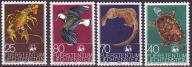 Lichtenstein 644-647**  Ptaki i in. WWF, 4,5E!