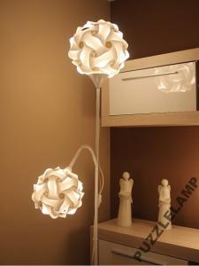 Lampa podłogowa PUZZLELAMP DUO Due -biała/czarna