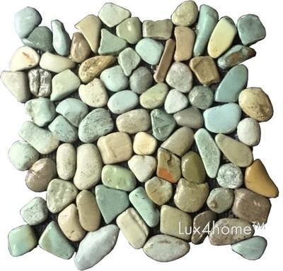 Mozaiki Kamienne Zielone Otoczaki 30x30 Cm Hit