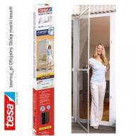 Moskitiera drzwiowa tesa z ramą aluminiową brązowa