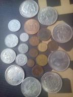 Stare monety wykopki szuflad.