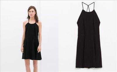 ZARA Basic sukienka z koronką czarna M 6433970958