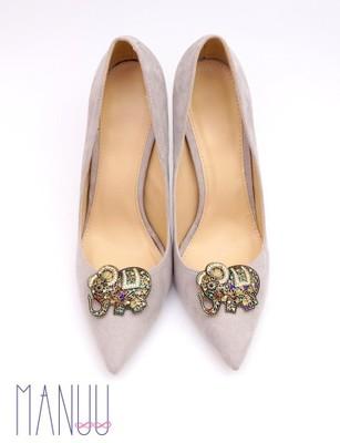 af1d21924 Klipsy do butów Manuu - Złote ozdoby z cyrkoniami - 6568494956 ...