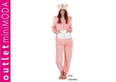 b246a5f486e37a ONESIE piżama jednoczęściowa dres kigu WZÓR MIŚ S - 6525998457 ...