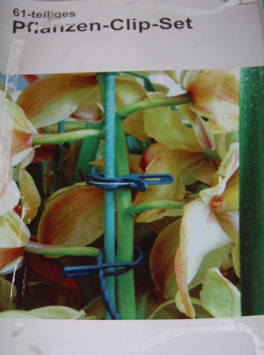 Klipsy do podtrzymania roślin 40sztuk + drut