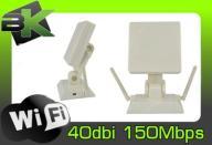 MOCNA ANTENA AKTYWNA WiFi 40dBi USB INTERNET WLAN