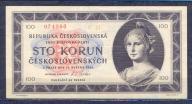Czechosłowacja -100  koron  -1945 ..P67a..aUNC