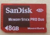 NOWY SANDISK  MEMORY STICK PRO DUO 8GB