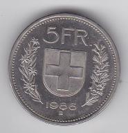 5 Franków SZWAJCARIA 1986