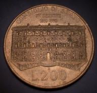 525. Moneta 200 lir 1990 Pałac Spada Włochy