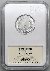 4647. 1 zł 1982 - GCN MS65