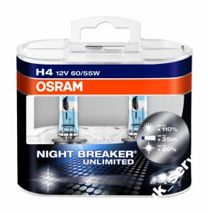H4 OSRAM NIGHT BREAKER UNLIMITED +110% - DUO 2SZT