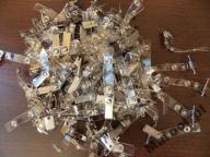 Klipsy metalowe z paskiem do identyfikatorów 100sz