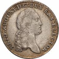 Niemcy Saksonia 1/3 talara 1789 Drezno st.3+