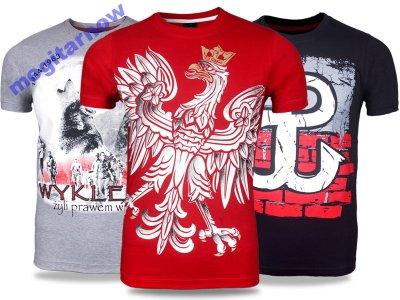 b87f3d2beab2 T-shirty Koszulki Patriotyczne Polska z Orłem 4XL - 6499368953 ...