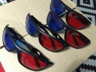 OKULARY 3D ANAGLIFY BLUE-RED 4 SZTUKI !!!!!!!!!!!!