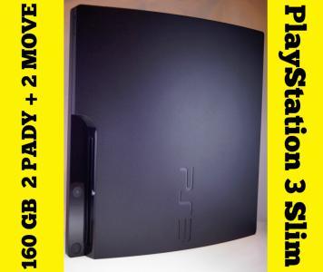 PlayStation 3 160GB + 2PADY + 2MOVE +KAMERA + GRY