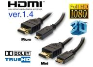 Kabel Micro HDMI-HDMI 1.3 Full HD 2048x1536  3M