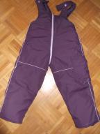 Spodnie ocieplane na szelkach - 104