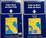 WŁOCHY PÓŁNOCNE 1:500 000 ITALIEN NORD