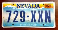 Nevada 2015 - tablica rejestracyjna USA