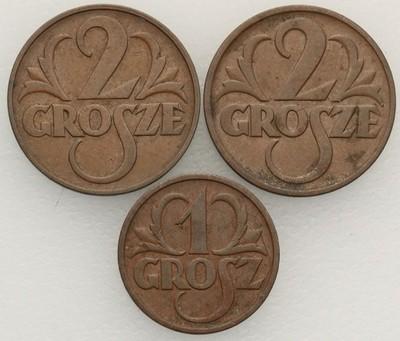1 grosz + 2 grosze zestaw 3 sztuk st.2/2-