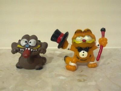 Garfield Kot Gumowa Figurka Figurki 2 Szt Prl 6729692005