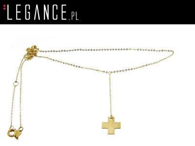 96b40f67d6dad3 Złoty łańcuszek z krzyżykiem VERONA YES Biżuteria - 6474677309 ...